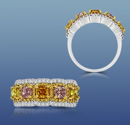Colorstar Fancy Yellow Diamond Band